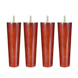 4Pcs 20cm Hauteur Cone Forme Eucalyptus Solid Wood Furniture
