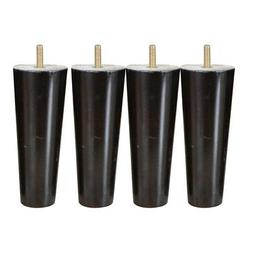 4Pcs 6 '' Hauteur Cone Shape Eucalyptus Solid Wood Furniture