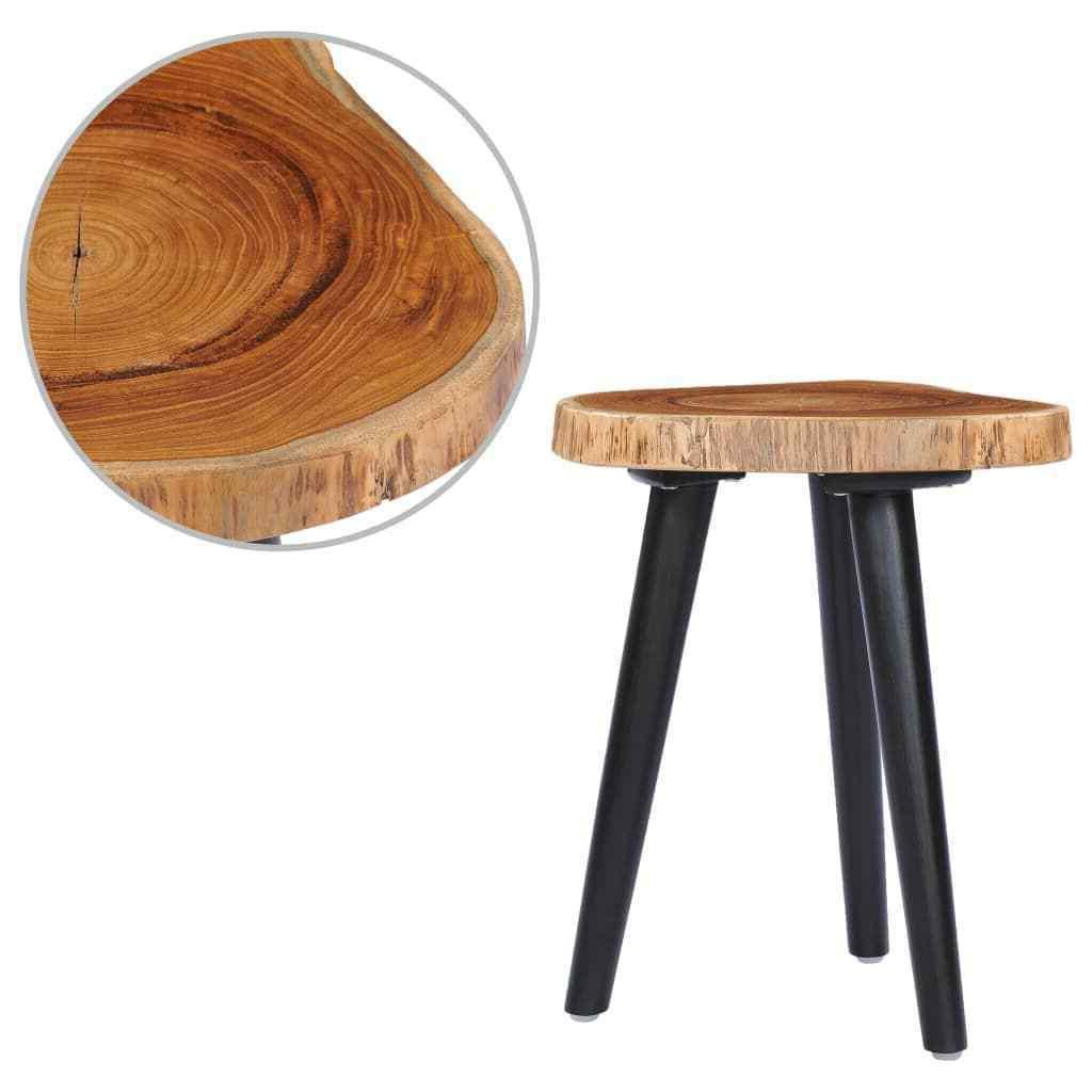 teck solide table basse 40x45 cm table