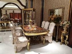 Royal à Manger Table Bois Luxe Tableaux Baroque Rokoko Sall