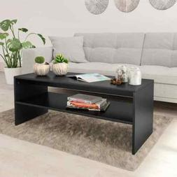 vidaXL Table Basse Noir Brillant Aggloméré Table d'Appoint