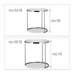 Table basses d'appoint ronde console chrome Helloshop26 13