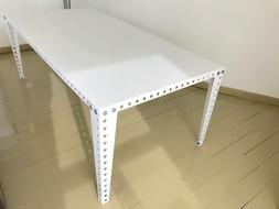 Table + Chaise Meccano Home blanche / 200cmx100cm / Salon /