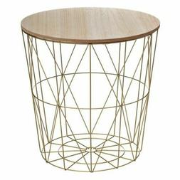 """Table d'Appoint Design """"Kumi"""" 41cm Or"""