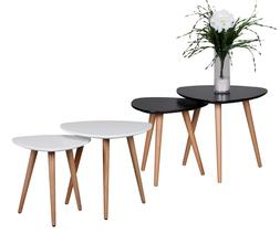 FineBuy Tables gigognes Bois Table d'appoint Table basse lot
